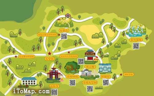 江西乡村旅游手绘版可以做标记的地图发布